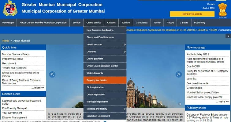 Property Tax Mumbai Online