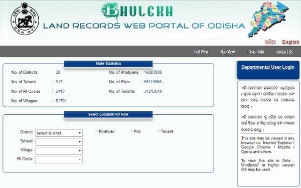 Bhulekh Odisha Khatiyan Number