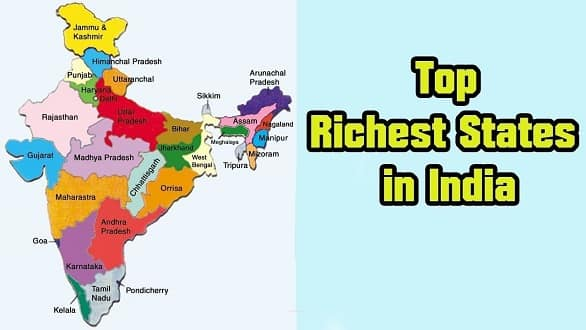 Top 20 Richest States in India 2019 - India's Stuffs