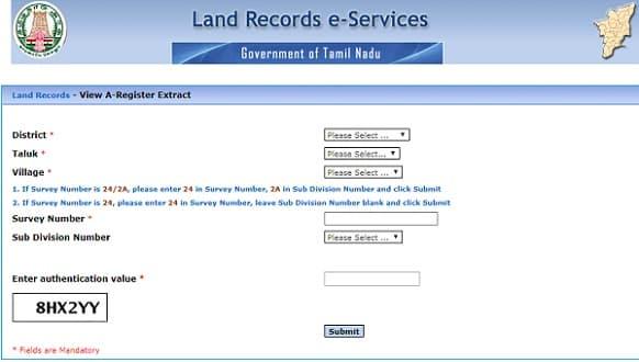 Patta status online tamilnadu