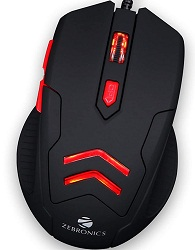 Zebronics Zeb-Feather, Wired Gaming Mouse