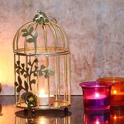 WebelKart Birdcage Tea Light Holder